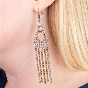 Insane Chain Copper/Multi Earrings